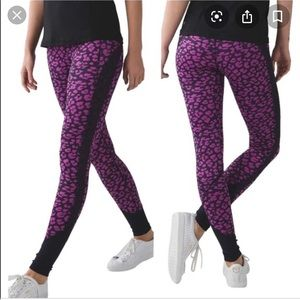 Lululemon Drop it like its hot tight cheetah 12